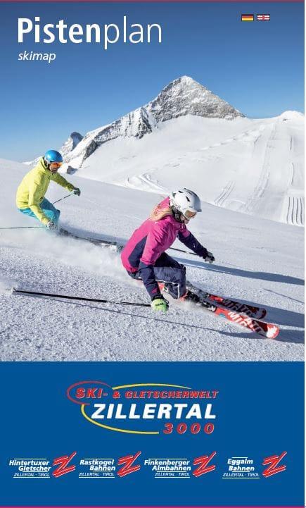 Awesome Piste Map Glacier Ski Zillertal With Finke Prospekt