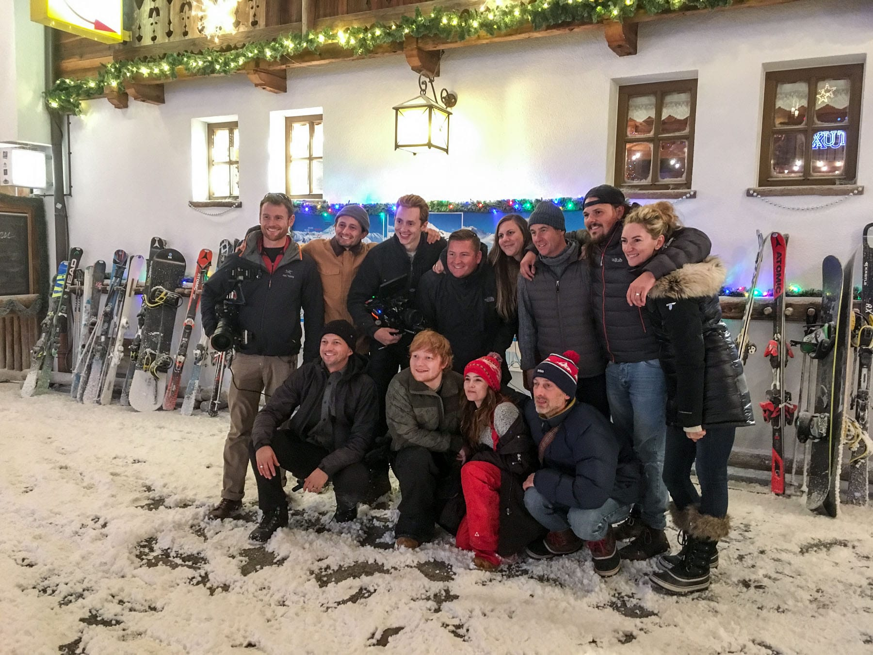 video shoot ed sheeran - hintertuxer gletscher - tyrol - austria